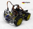 KIT ROBOT SMART CAR AUTO 4 RUOTE MOTRICI COMPATIBILE ARDUINO