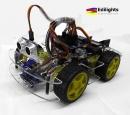 KIT ROBOT SMART CAR AUTO 4 RUOTE MOTRICI COMPATIBILE ARDUINO
